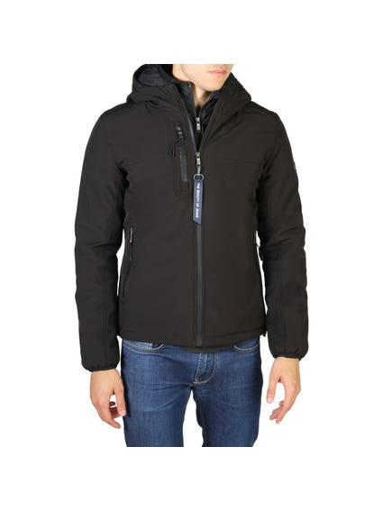 Black Zipper Pocket Hood Jacket