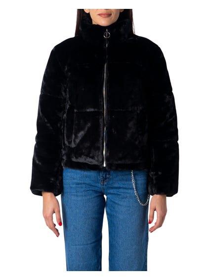 Black Faux Fur Jacket Blazer