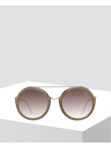 Yellow Double Frame Sunglasses