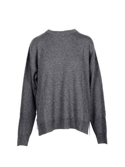 Crew Neck Plain Knitwear