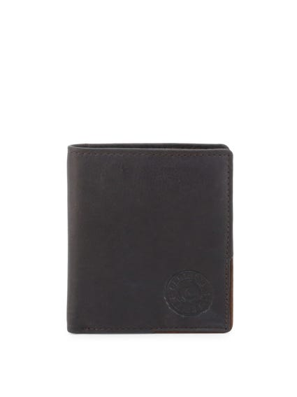 Blue Leather Classic Bi Fold Wallet