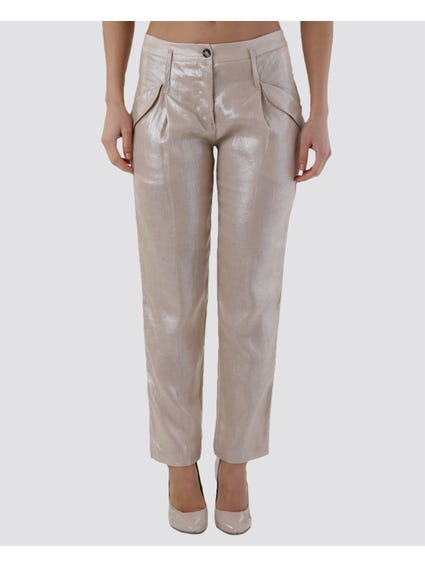 Polish Effect Pocket Trouser