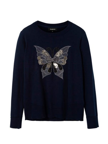 Long  Sleeve Butterfly Sweater