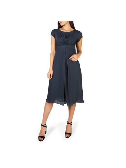 Casual Pleated Chest Dress