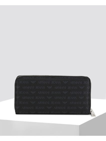 Logo Print Zipped Wallet