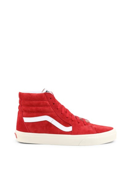 Red Suede High Cut Sneakers