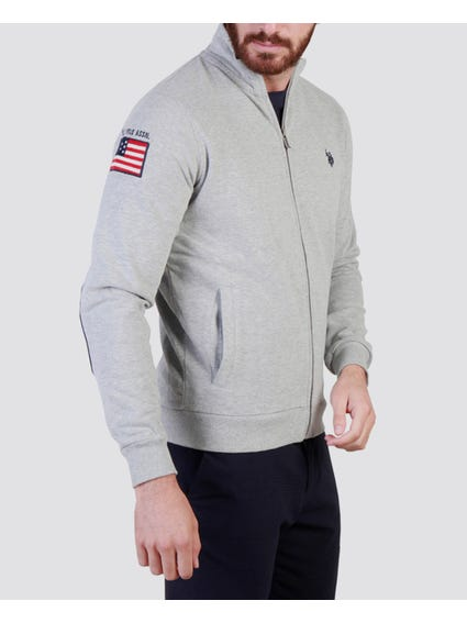 Grey Side Flag Print Sweatshirt