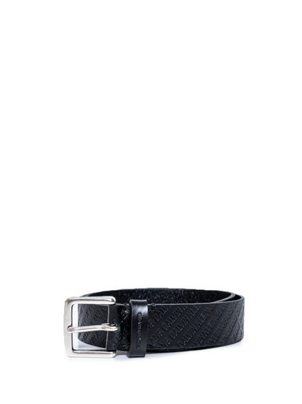 Leather Textured Buckle Belt