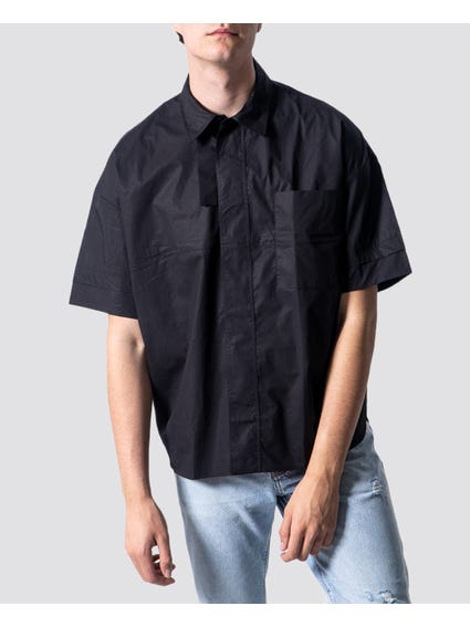 Black Classic Short Sleeves Shirt