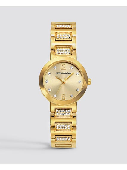 Gold Stone Indices Stainless Steel Watch