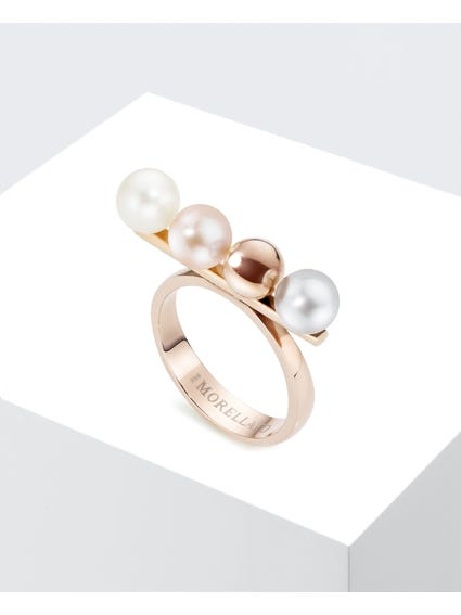 RoseGold Cultured Pearl Lunai Ring