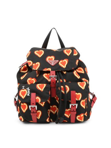 Heart Printed Backpack