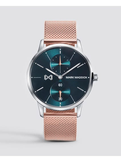 Rose Gold Round Analog Watch