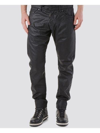 Button Pocket Glossy Trouser
