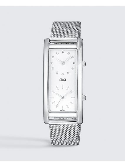 Silver Stainless Steel Mesh Watch