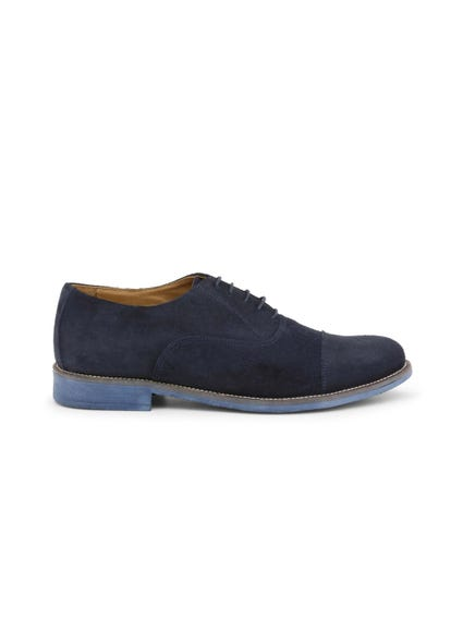 Blue Suede Camoscio Lace Up Shoes