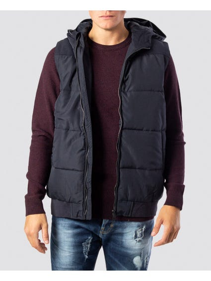 Boston Quilted Hooded Vest
