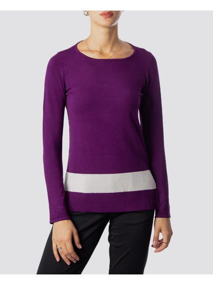 One Stripe Purple Sweatshirt