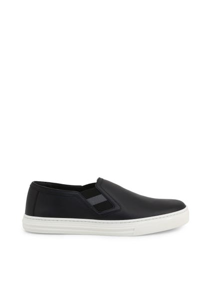 Elastic Side Leather Slip On