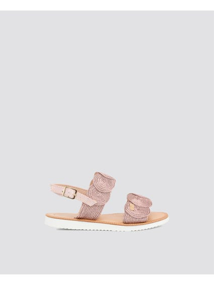 Pink Ankle Kids Sandals