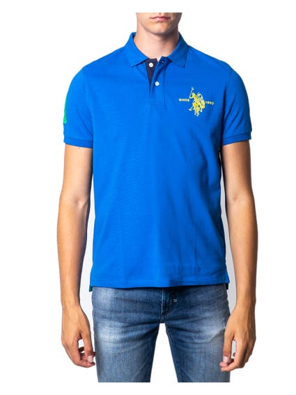 Blue Collar Logo Button Polo Shirt