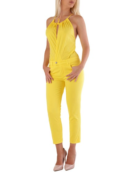 Sleeveless Self Tie Jumpsuits