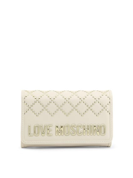 White Embellish Studs Wallet