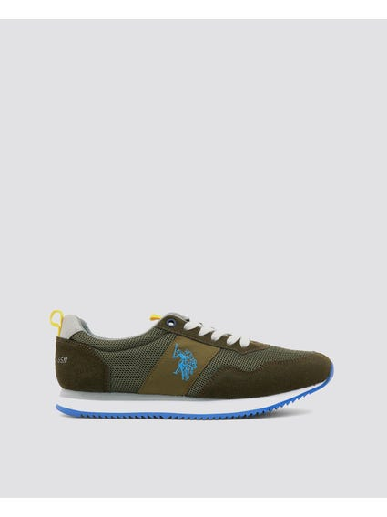Green Nobil Cleated Sole Sneakers