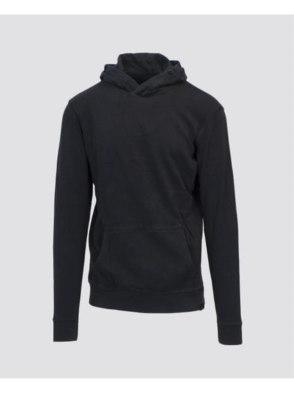 Black Hooded Long Sleeve Sweatshirt