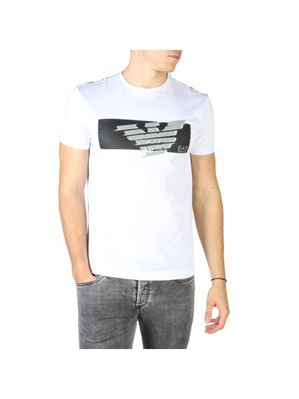 White Graphic Brand T Shirt