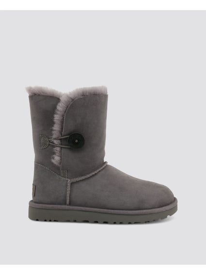 Grey Bailey Button Ankle Boots
