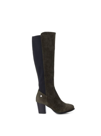 Two Tone High Knee Boots