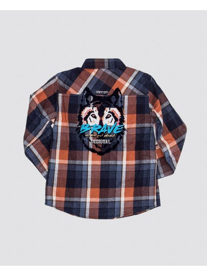Checkered Long Sleeves Kids Shirt