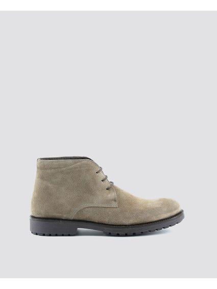 Taupe Simone Cleated Sole Boots
