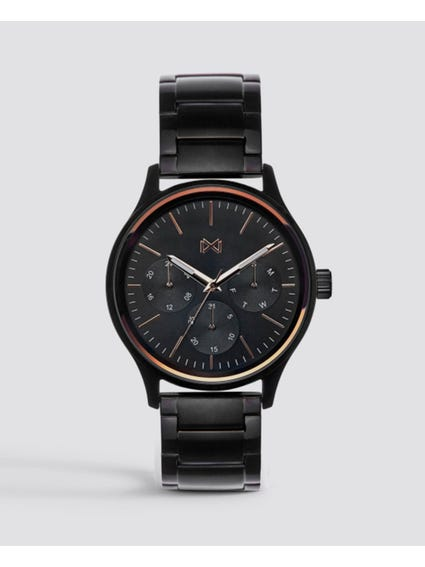 Stainless Steel Black Dial Watch