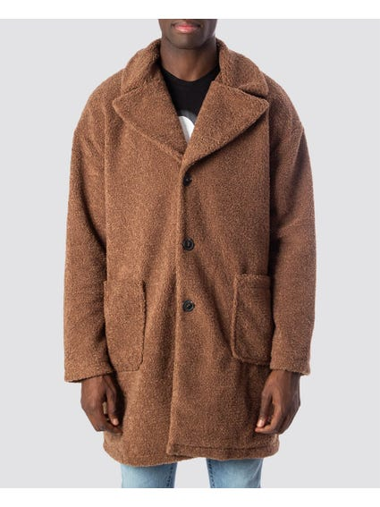 Base Long Teddy Coat