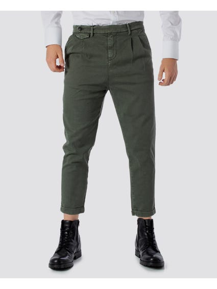 Grey Side Button Trouser