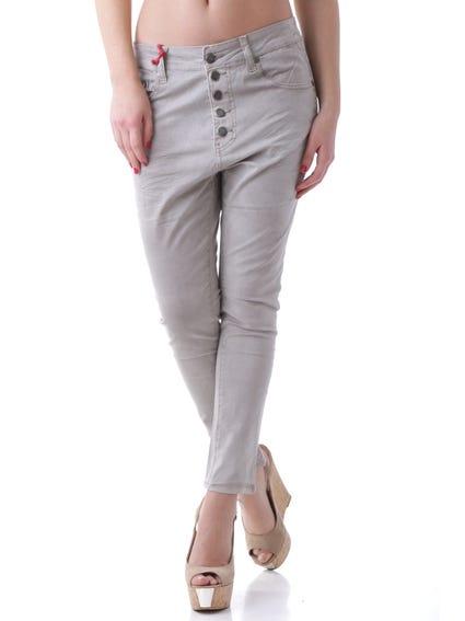 Full Button Crop Trouser