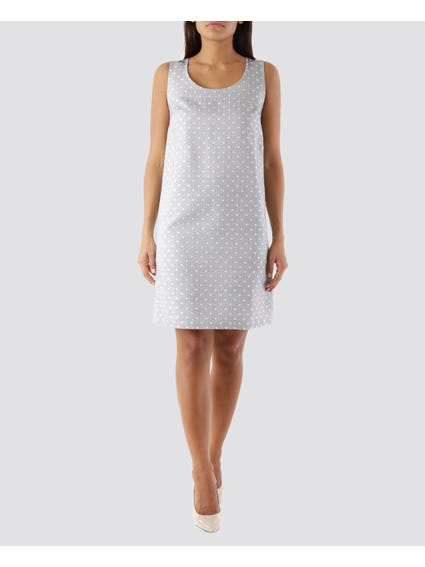 Grey Polka Dot Dress
