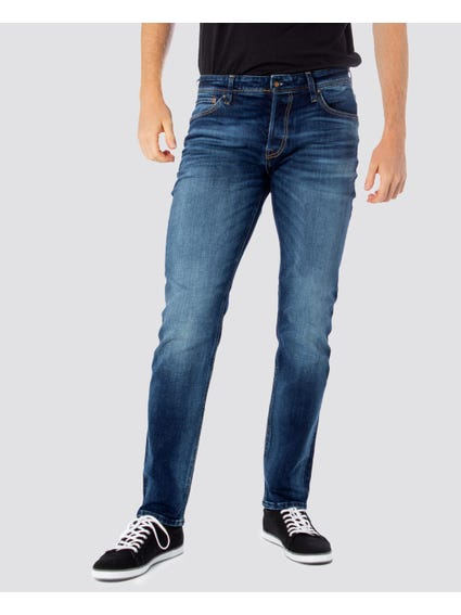 Blue Washed Straight Jeans