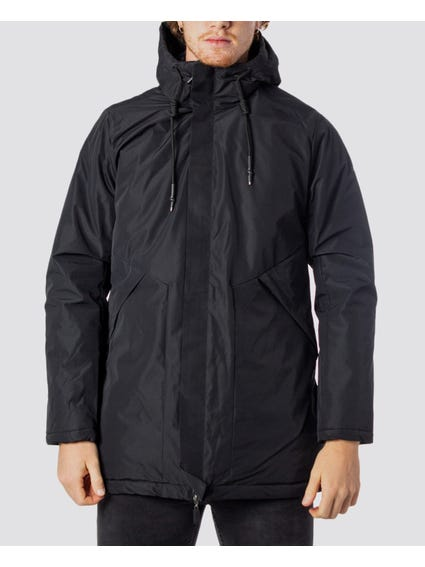 Black Hood Parka Jacket