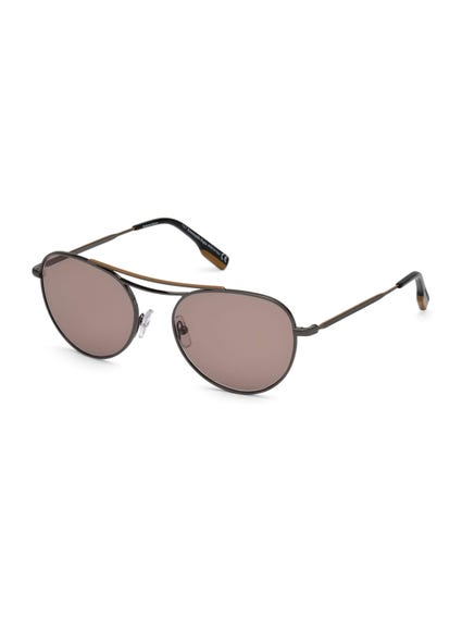 Brown Hi Bridge Sunglasses