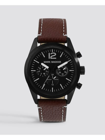 Black Dial Quartz Watch