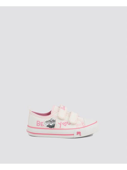 White Denim Low Kids Sneakers