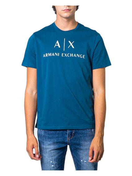 Blue Short Sleeve AX Print T-shirt
