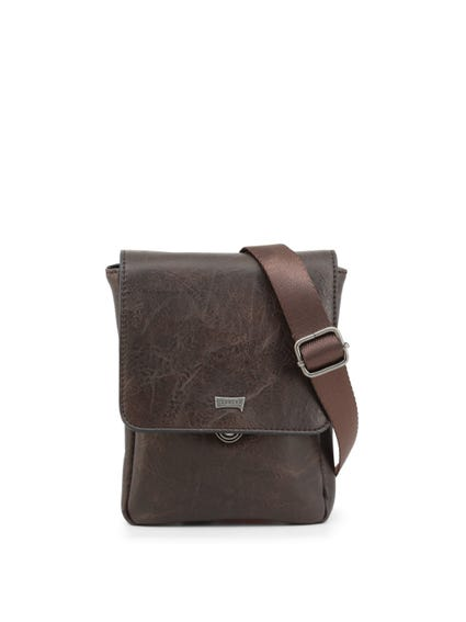 Brown Tuscany Leather Zip Crossbody Bag