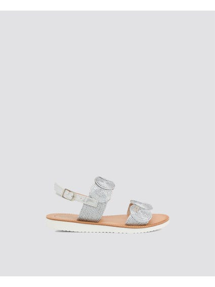 Grey Ankle Kids Sandals