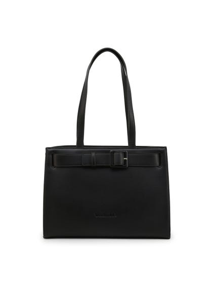 Black Angelo Belt Front Shoulder Bag