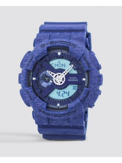 Blue Resin Band Analog Watch