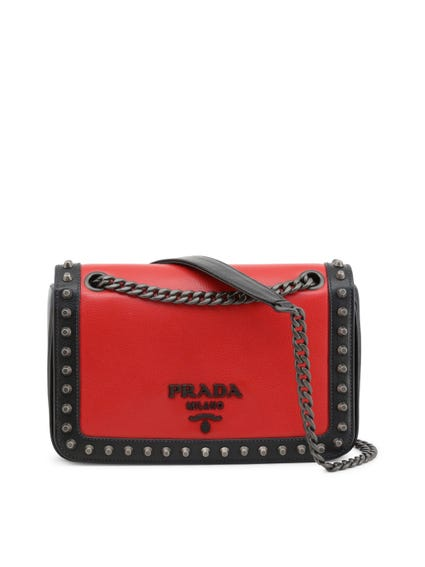 Red Studs Glace Crossbody Bag